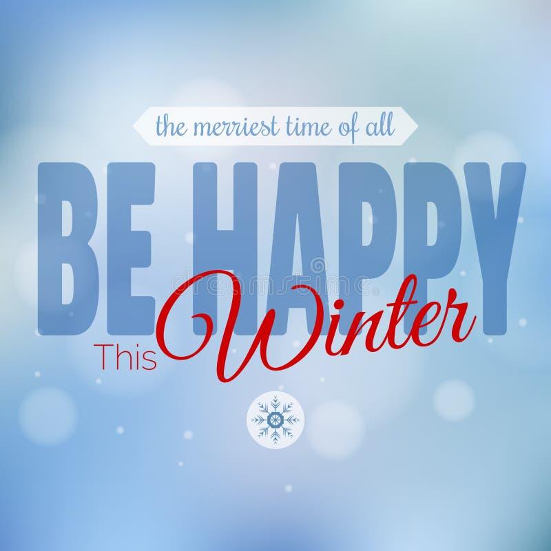 Vector Vrolijke Kerstmis en Gelukkige Nieuwjaarskaart stock illustratie