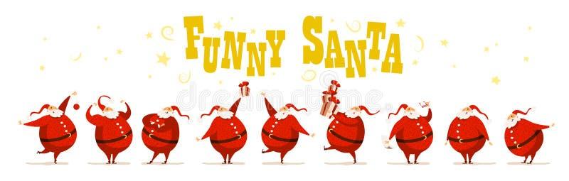 Vector Vrolijke Kerstmis, het Gelukkige Nieuwe ontwerp van de jaargelukwens royalty-vrije illustratie
