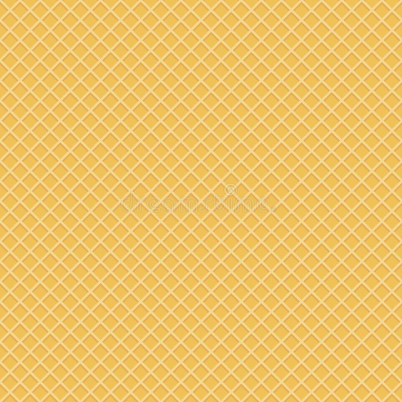 Vector Waffle Background. Vector Illustration royalty free illustration