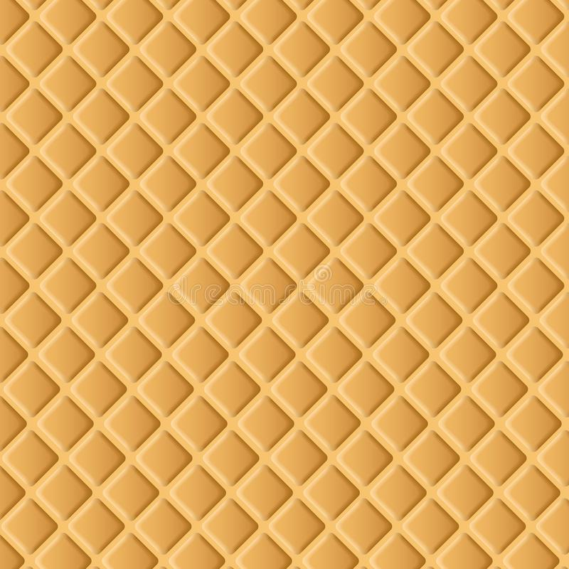 Vector Waffle Background. Vector Illustration stock illustration