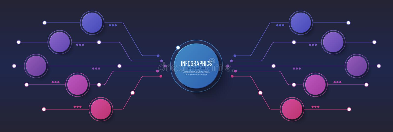 Vector 10 Wahlen infographic Design, Struktogramm, presentat lizenzfreie abbildung