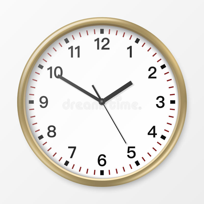 Vector wall office clock. stock illustration