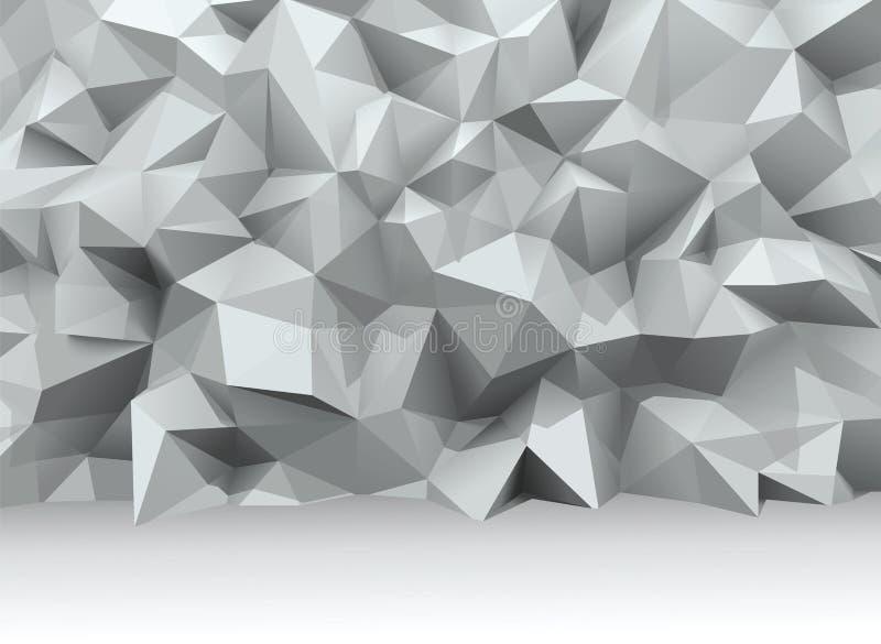 Vector wall. Polygonal 3d wall, vector illustration vector illustration