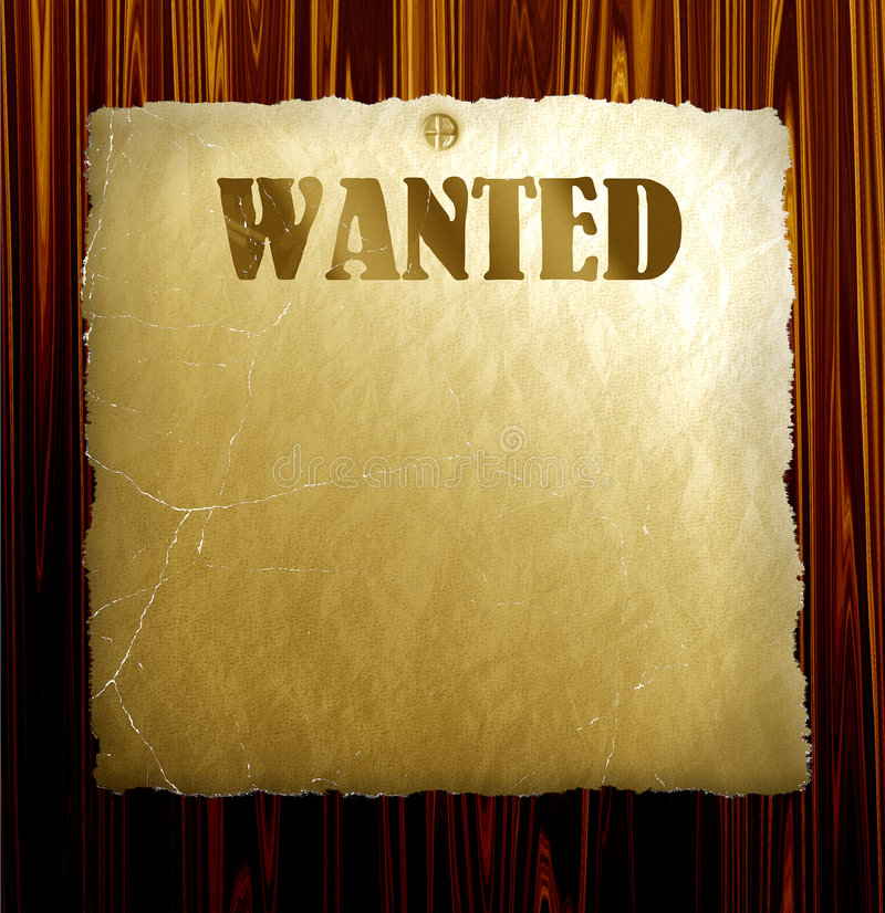 Vector Wanted Poster stock illustration