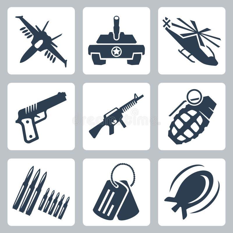 Vector war icons set royalty free illustration