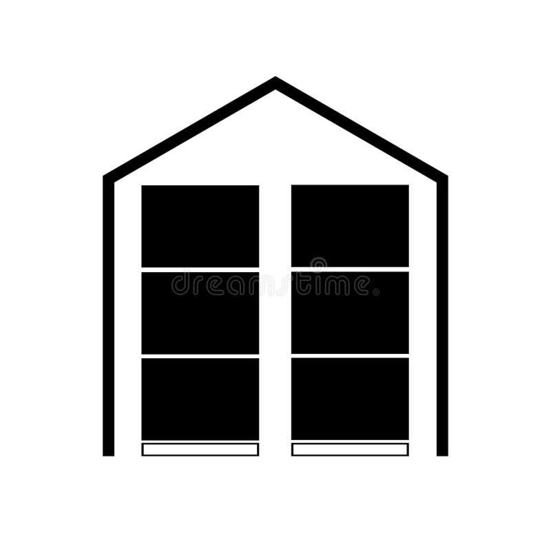 The warehouse icon, Storehouse illustration graphic design royalty free stock image