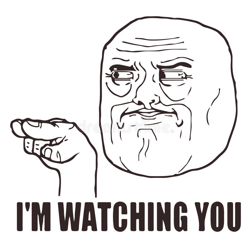 Free Vector Watching You Guy Meme Face For Any Design. Isolated Eps 10. Royalty Free Stock Image - 79826126