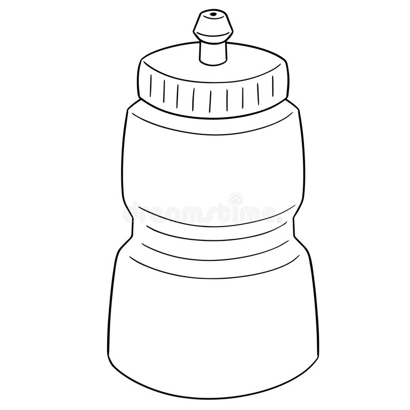 Vector of water bottle. Hand drawn cartoon, doodle illustration stock illustration