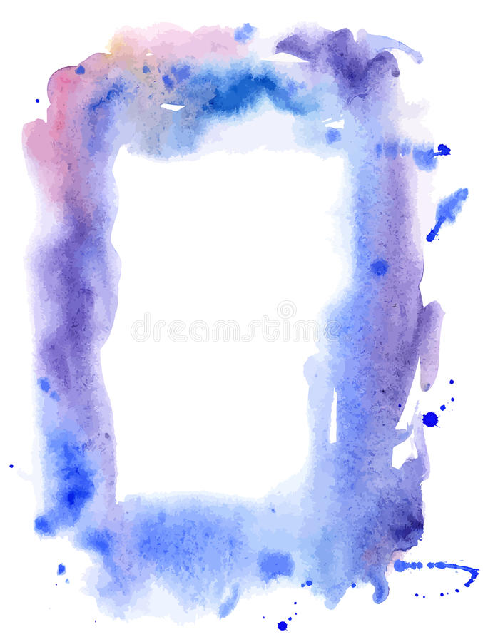 Vector water color frame stock illustration