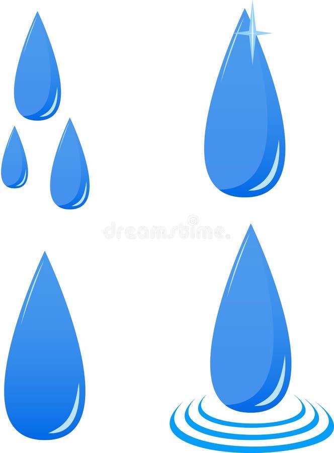 Vector Water Drops Stock Image