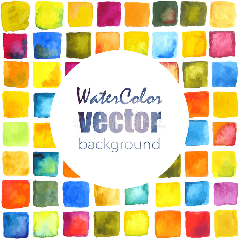 Vector watercolor background stock illustration