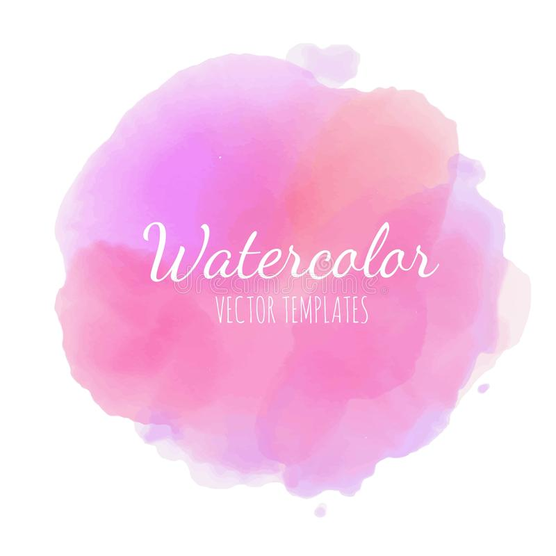 Set of Vector Watercolor background 12 stock illustration