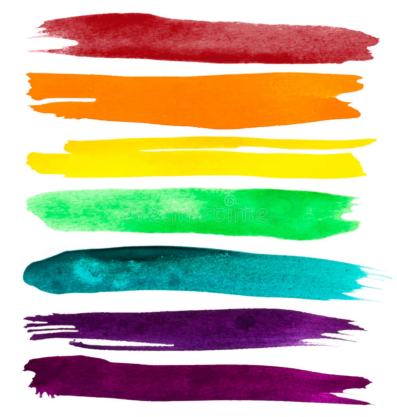 Vector watercolor brush strokes royalty free stock images