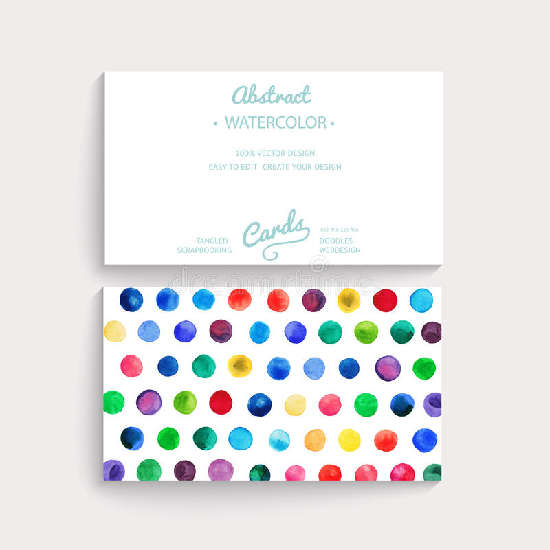 Vector watercolor circles. Corporate identity vector blank, background, illustration with plenty space for your text. Watercolor stock illustration