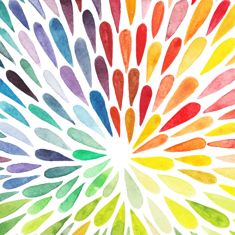 Vector watercolor colorful abstract background. Collection of pa vector illustration