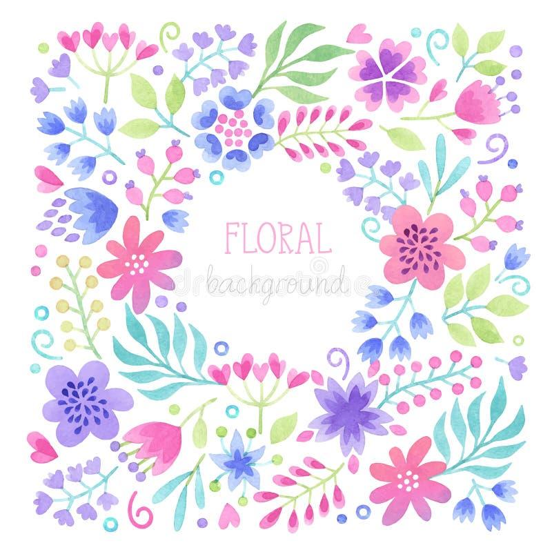Vector Watercolor floral background. vector illustration