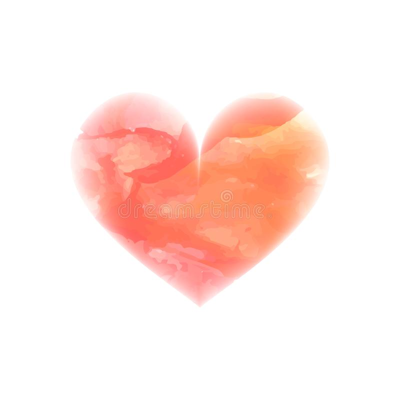 Vector watercolor heart. Watercolor painted pink heart, element for your design. Painting of the heart. Valentines day. Wedding card. Mothers Day. Concept - love stock photos