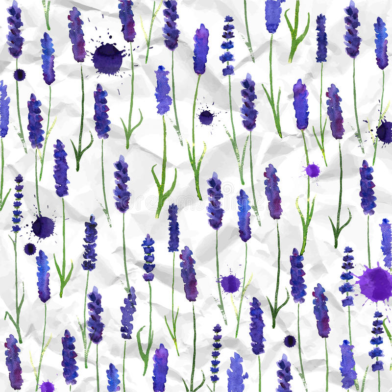 Vector watercolor lavender background royalty free illustration