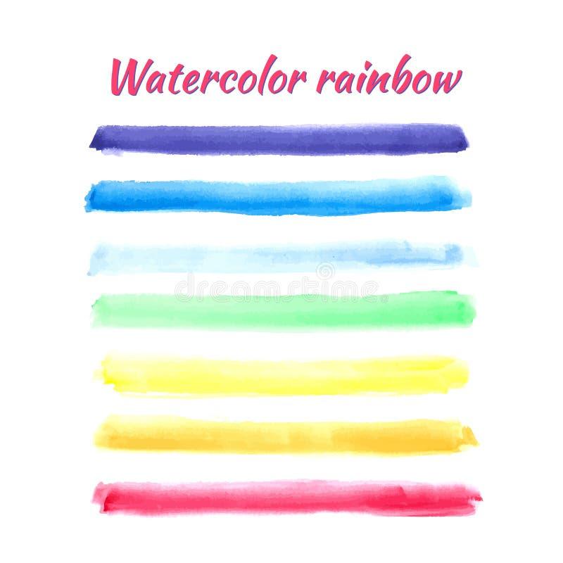Vector watercolor rainbow stripes for design. Vector EPS 10 illustration for design vector illustration