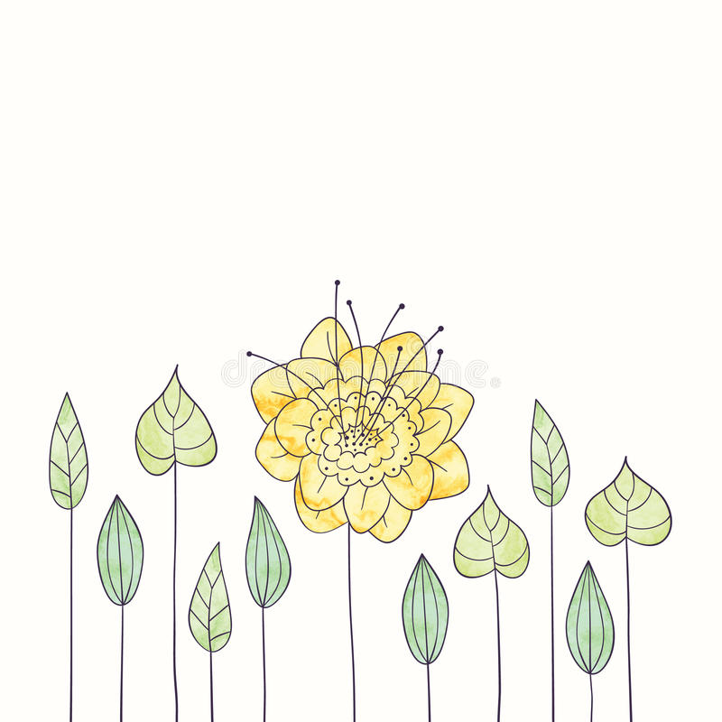 Flower Frame Line Drawing : Vector watercolor round flower frame hand draw floral