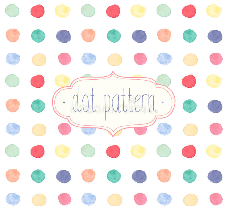 Vector Watercolor seamless dot pattern. vector illustration