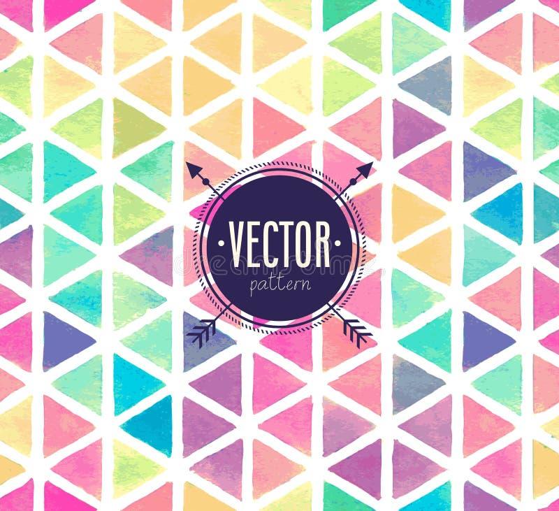 Vector Watercolor seamless pattern. stock illustration
