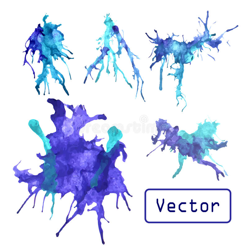Vector watercolor splash royalty free illustration