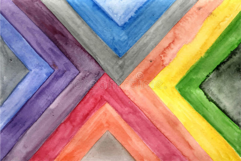 Vector Watercolor Striped Pattern vector illustration