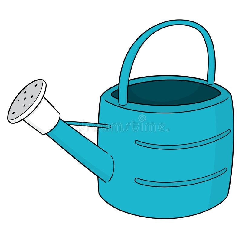 Vector of watering can. Hand drawn cartoon, doodle illustration stock illustration