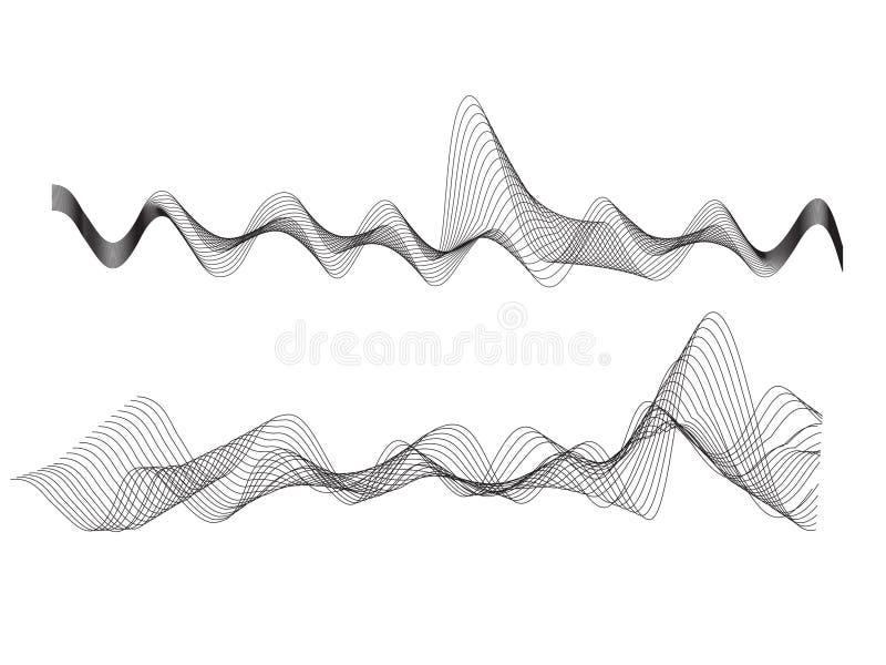 Vector wave vector illustration