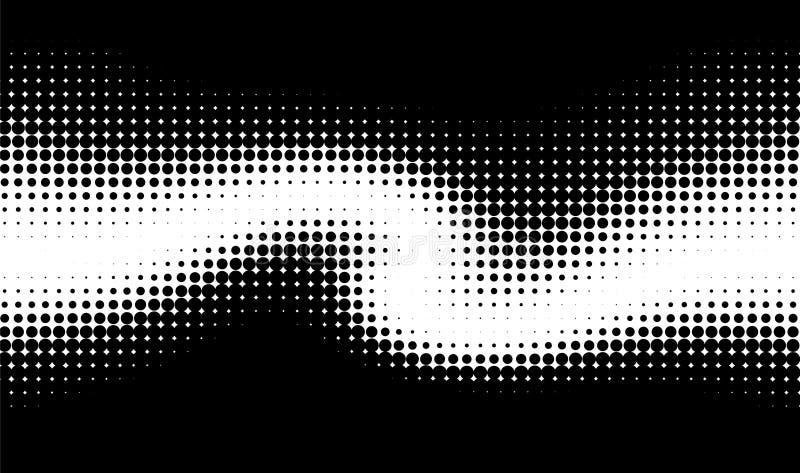 Vector wave dots pattern stock illustration