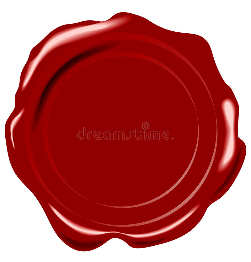 Vector wax seal. On white royalty free illustration