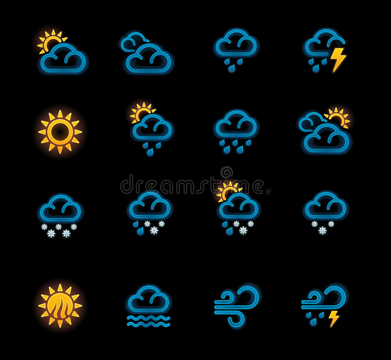 Download Vector Weather Forecast Icons. Part 1 Stock Images - Image: 22214614