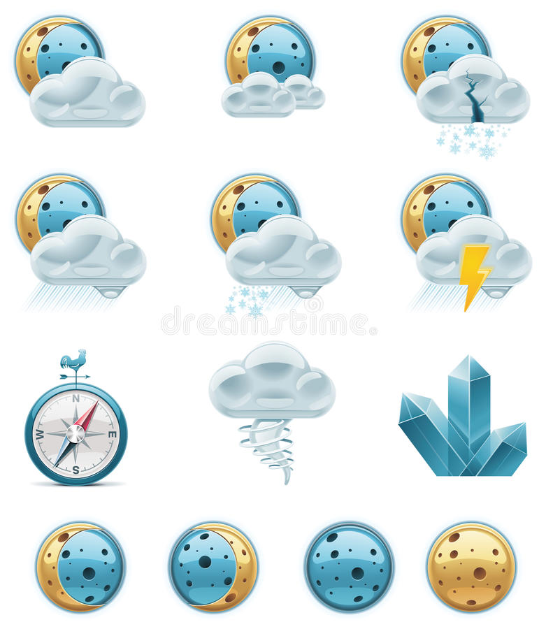 Download Vector Weather Forecast Icons. Part 2 Stock Photography - Image: 16953622