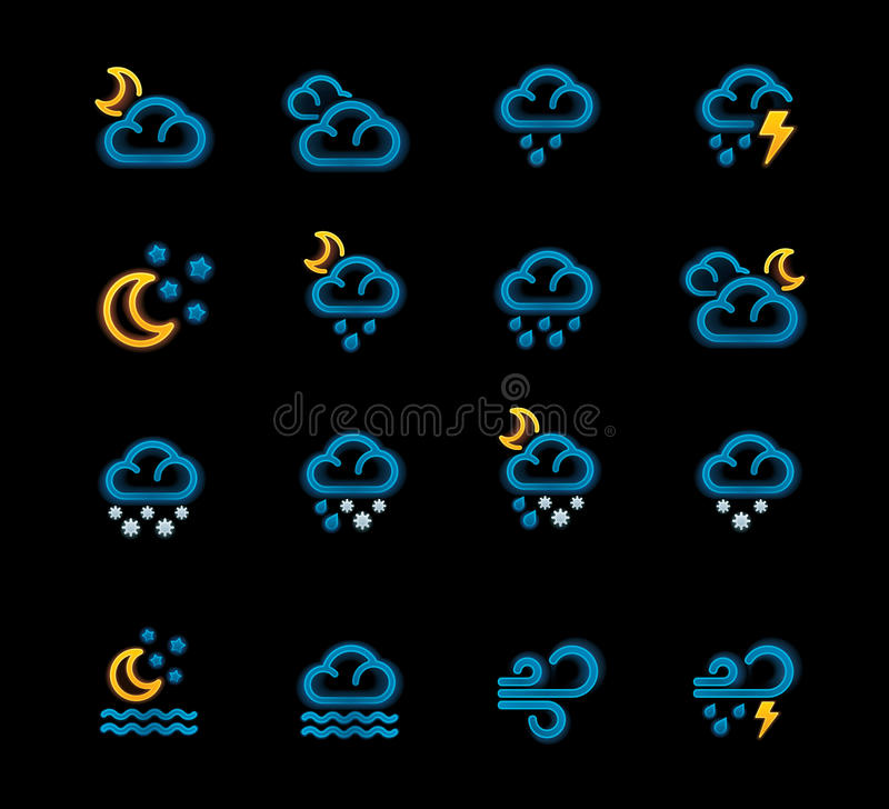 Free Vector Weather Forecast Icons. Part 2 Stock Photos - 22214763