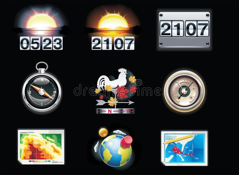 Download Vector Weather Forecast Icons. Part 4 Stock Vector - Illustration: 15279778