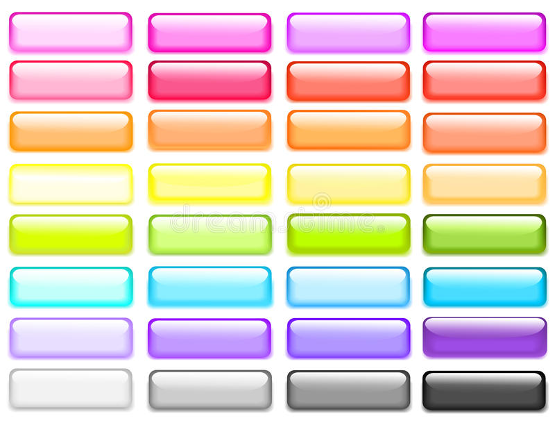Download Vector web buttons. stock vector. Image of blank, image - 25278325