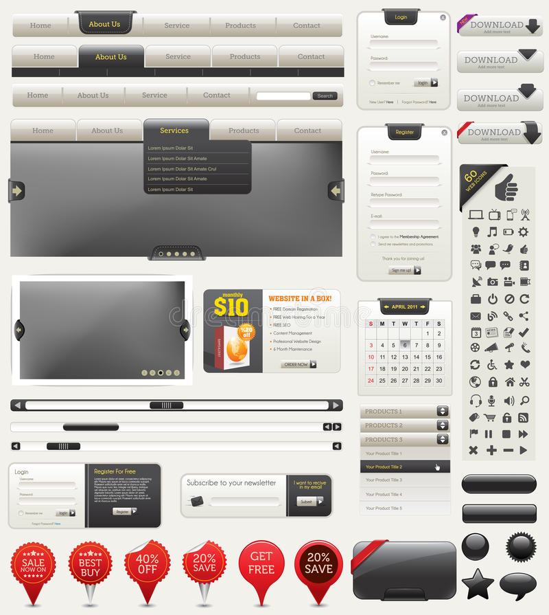 Vector Web Design Elements Royalty Free Stock Image