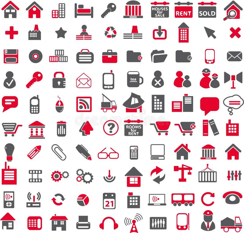 Vector web icons stock photography