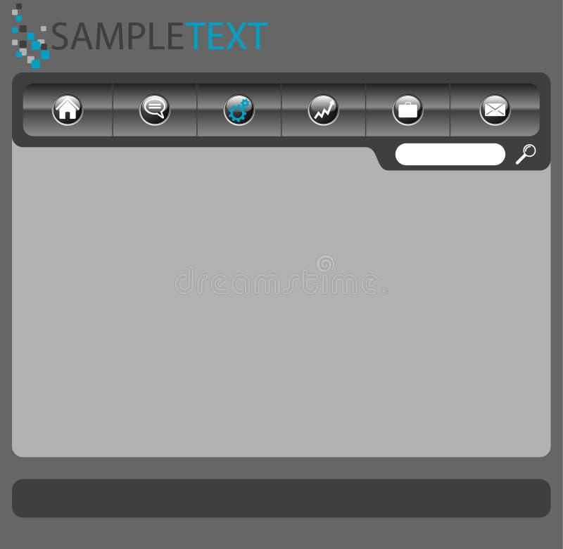 Vector web layout royalty free stock photos