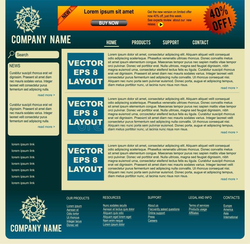 Vector web layout stock photo