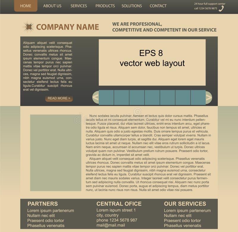 Vector web layout stock photos