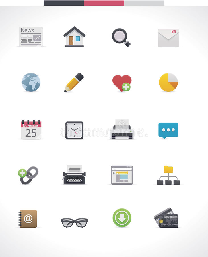 Vector web page icon set vector illustration