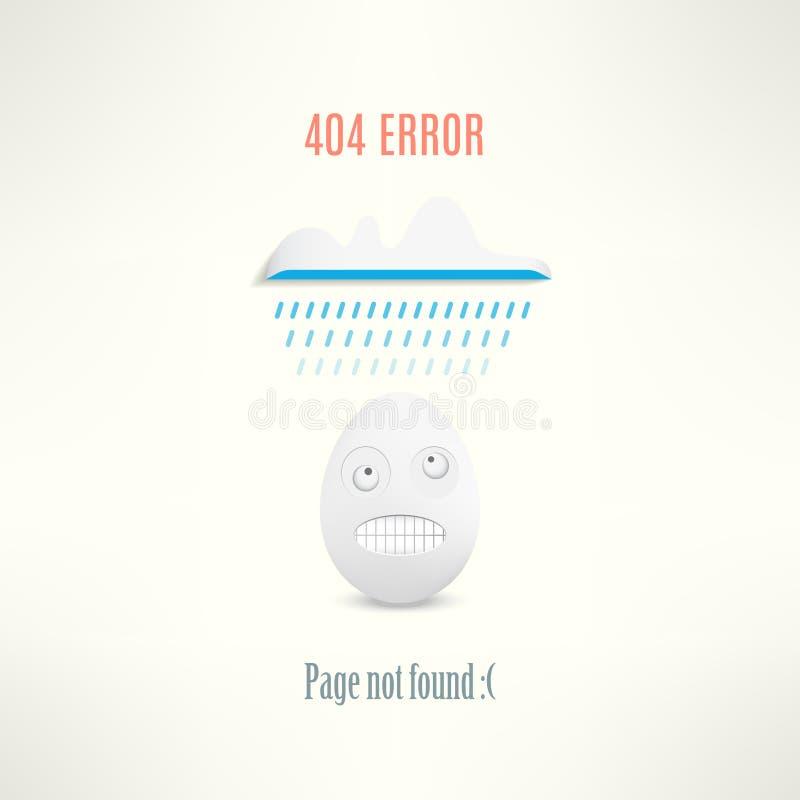 Vector 404 Web-pagina gevonden niet fout met grappig royalty-vrije illustratie