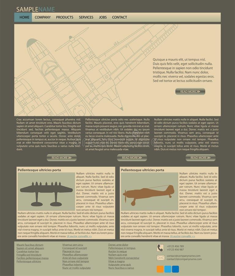 Vector web site layout stock photos