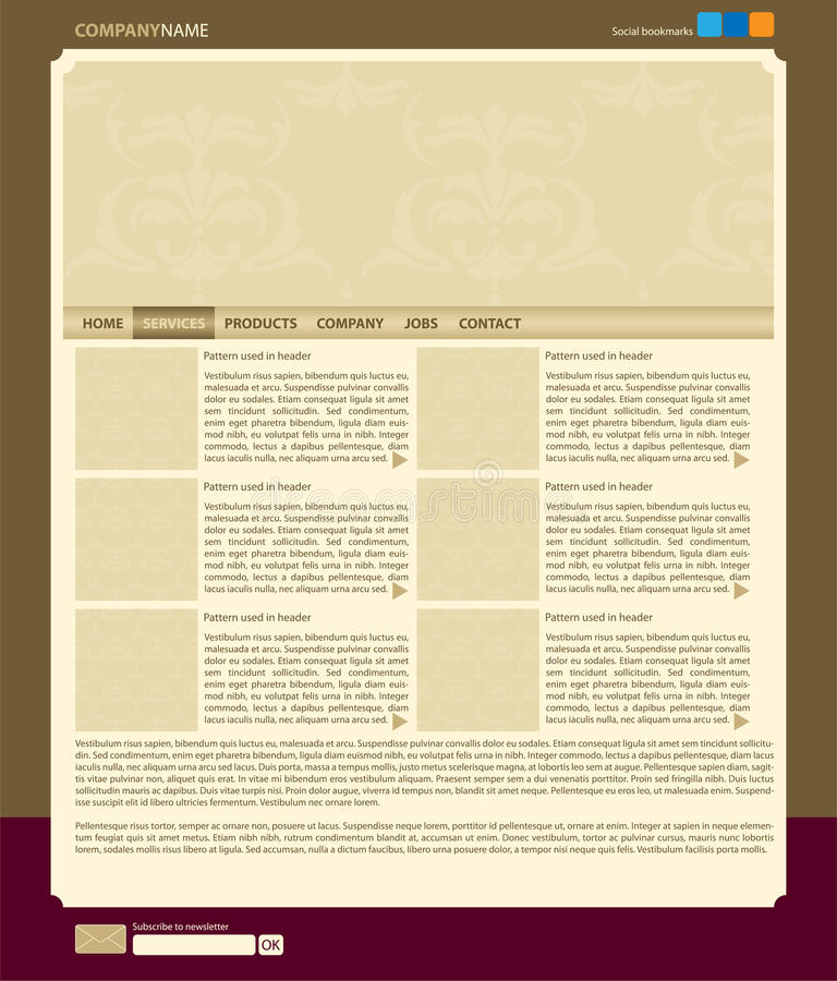 Vector web site layout royalty free stock photo