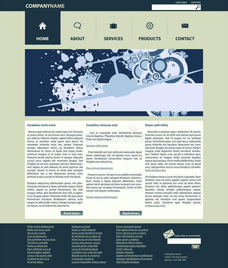 Vector web site layout royalty free stock photos
