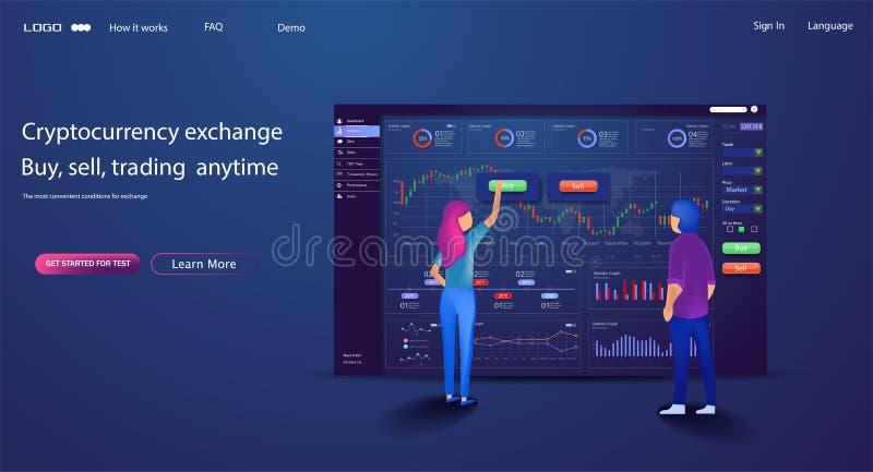 Vector web site trade design template Finance char vector illustration