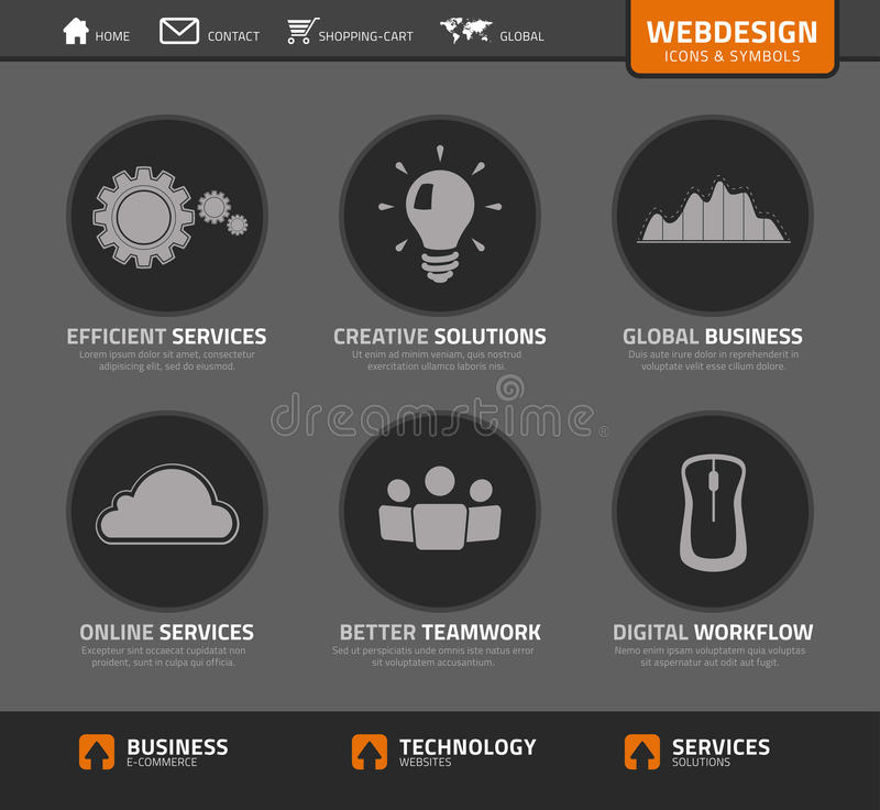 Vector webdesign icons and symbols. Vector set webdesign icons and symbols vector illustration