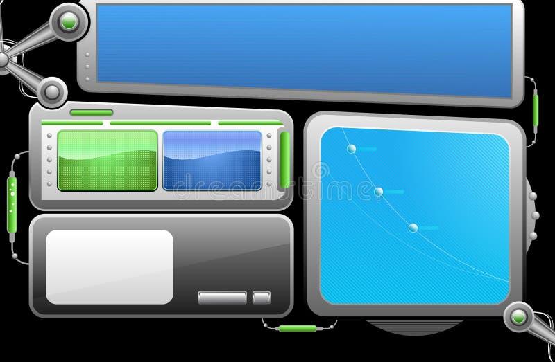 Vector webdesignelementen royalty-vrije illustratie